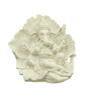 Ganesh Statue Ridhi Sidhi weiß - 12 cm