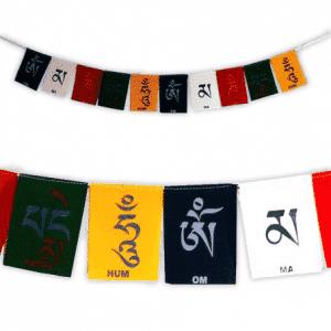 10 Tibetische Gebetsfahnen OMPMH Luxus Velours