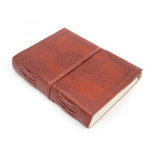 Handgefertigtes Leder-Notizbuch Traumfänger (17,5 x 13 cm)