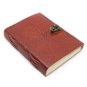 Handgefertigter Leder-Notizbuch Baum des Lebens (17,5 x 13 cm)