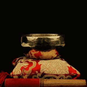 Klangschale Shanti goldfarben (13 - 14 cm)