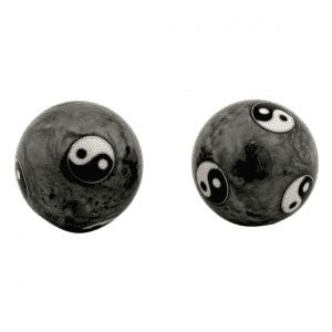Qigongkugel - Yin Yang Tai Chi (grau) (4 cm)