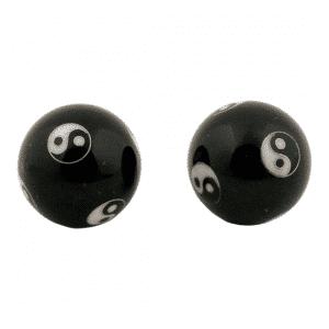 Qi Gong Kugeln Yin Yang schwarz
