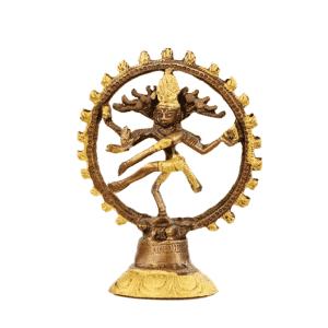 Shiva Nataraj Messing zweifarbig - 15 cm