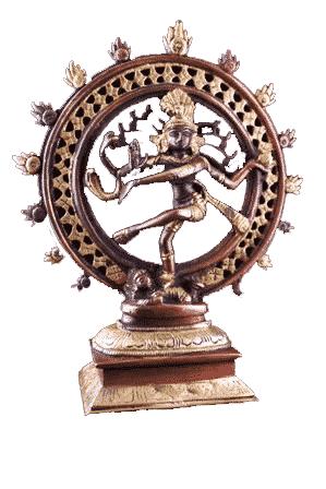 Shiva Nataraj Messing zweifarbig - 20 cm