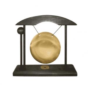 Tischgong (schwarz-gold, klein)