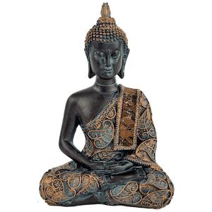 Meditierender Buddha Antiklook Thailand - 15 cm