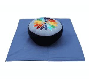 Meditations SET blau Vielfarbige Blume