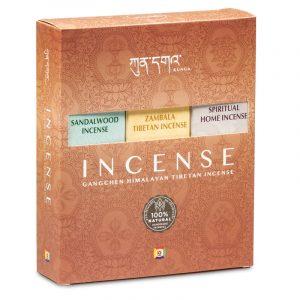 Geschenkbox Gangchen Himalaya natürlicher Raucherstäbchen (6 Packungen mit 20 Stäbchen)