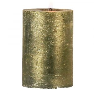 Goldene Stumpfkerze (20 x 10 cm)