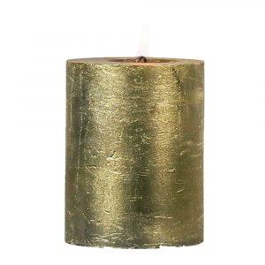 Goldene Stumpfkerze (15 x 10 cm)