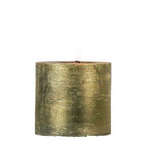 Goldene Stumpfkerze (10 x 10 cm)