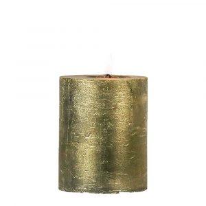 Goldene Stumpfkerze (10 x 7 cm)