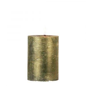 Goldene Stumpfkerze (8 x 5 cm)