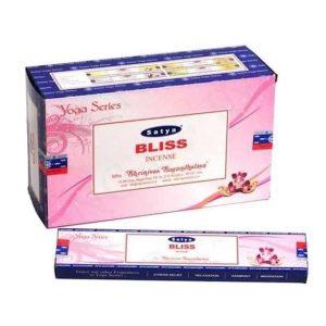Räucherstäbchen Satya Nag Champa Bliss / Glück (12 Packungen)