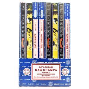Räucherstäbchen Satya Nag Champa Kollektion (8 Packungen)