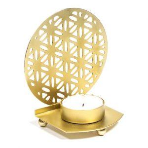 Fairtrade Atmosphärisches Teelichthalter Blume des Lebens