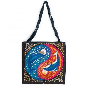 Tragetasche Baumwolle - Yin-Yang-Delfine (45 cm)
