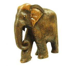 Statue aus Holz Elefant (20,5 x 20 x 9 cm)