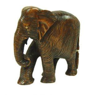 Statue aus Holz Elefant (6 x 7 x 3 cm)