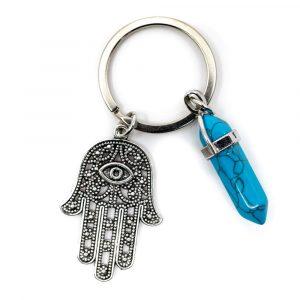Schlüsselanhänger Beschützer Hamsa Hand mit Doppelender