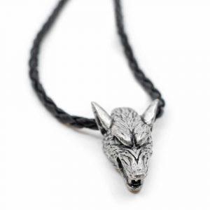Wikinger-Anhänger Beschützer Wolf silber