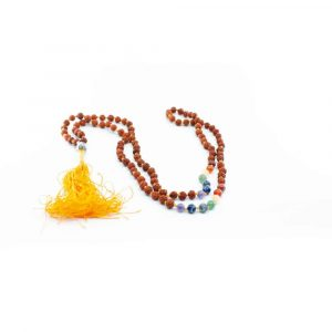 Rudraksha Chakra Buddha Edelstein Mala 108 Perlen