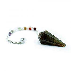 Pendel Edelstein Labradorit Facette mit Edelstein Perlen