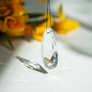 Regenbogenkristall Facetten-Tropfen mittel (38 mm)