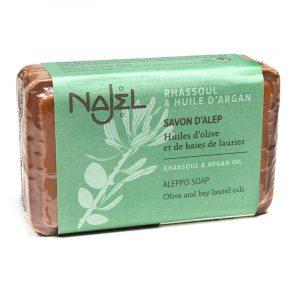 Najel Aleppo-Seife Arganöl mit Lava-erde