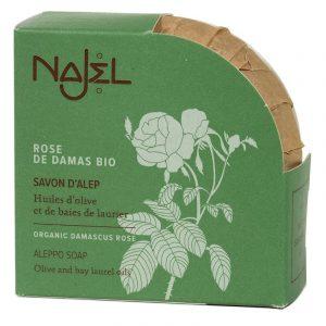 Najel Aleppo-Seife mit biologischer Damaskus-Rose