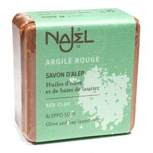 Najel Aleppo Seife mit roter Tonerde