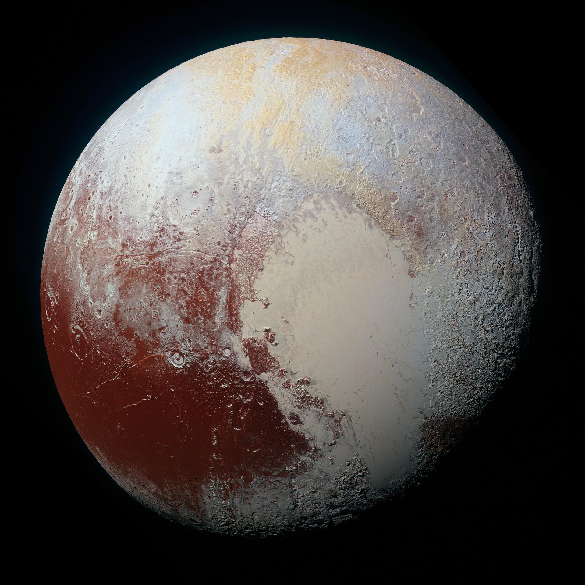 Sternzeichen Skorpion Mars Planet rot beige auf schwarzem Hintergrund