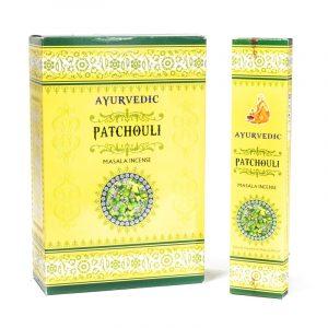 Raucherstäbchen Ayurvedisches Masala Patchouli (12 Verpackungen mit 15 Räucherstäbchen)