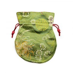 Brokat-Beutel Handgemacht - Grün