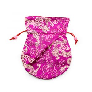 Brokat-Beutel Handgemacht - Rosa
