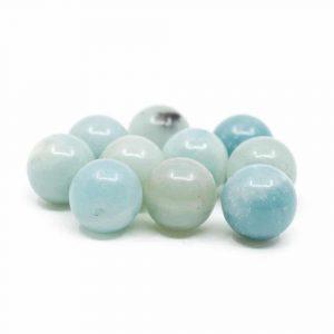 Edelstein Lose Perlen Amazonit - 10 Stück (12 mm)