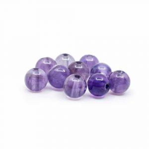 Edelstein Lose Perlen Amethyst - 10 Stück (4 mm)