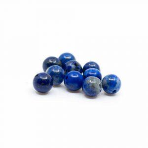 Edelstein Lose Perlen Lapislazuli - 10 Stück (4 mm)