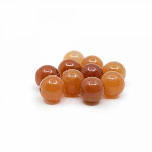 Edelstein Lose Perlen Roter Aventurin - 10 Stück (12 mm)