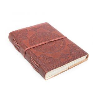 Handgefertigtes Leder-Notizbuch Lotus OM (17,5 x 13 cm)