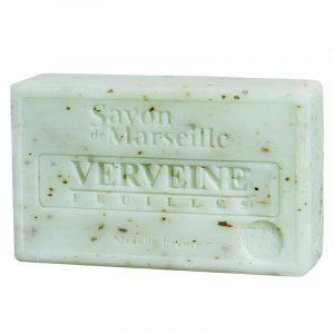 Natürliche Marseille Seife mit Eisenkrautblatt