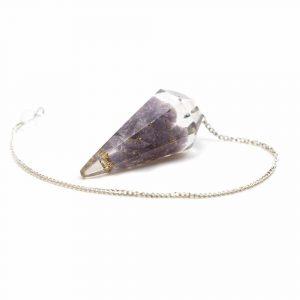Pendel Edelstein Lepidolith Orgon Violett
