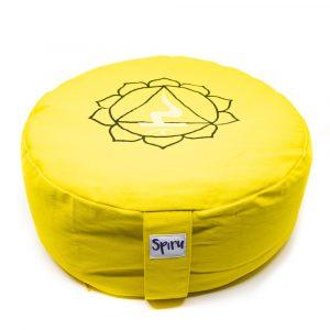 Spiru Meditationskissen Baumwolle Gelb - 3rd Chakra Solar Plexus - 36 x 15 cm