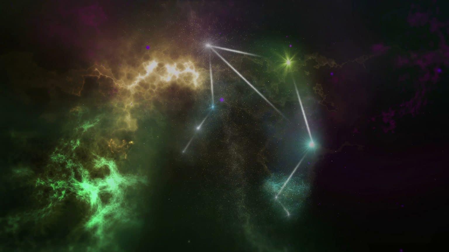 Sternzeichen Waage Sternenkonstellation Universum
