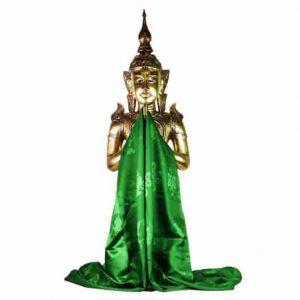 Tibetische Katha Schal grün extragroß