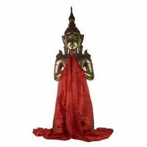 Tibetische Katha Schal rot extragroß