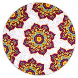 Mandala Untersetzer rund rot (Set 6 Stück)