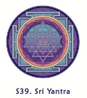 Fensterbild Sri Yantra
