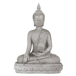Buddha-Statue Thai's helfende Hand Erde (Steingrau - 39 cm)